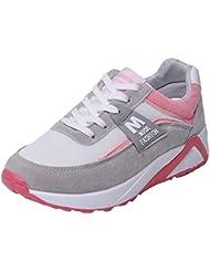 Zapatillas Deportivas de Mujer,YiYLunneo Malla Exterior Shoes Deportivas Informales Sneakers con Amortiguación de Aumentar