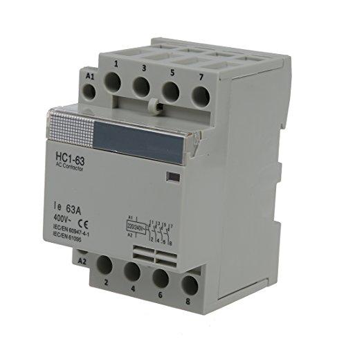 AC-Schuetz - TOOGOO(R)35 mm DIN Support ueber AC400V 63A 4-polig Modular Haushalt AC Schuetz -