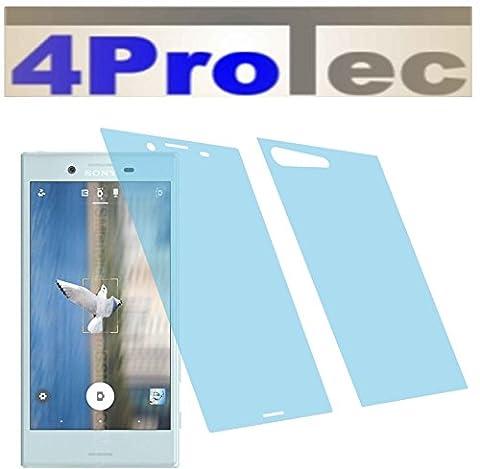 2x Crystal clear klar Schutzfolie (1x vorne 1x hinten) für Sony Xperia X Compact Premium Displayschutzfolie Bildschirmschutzfolie Schutzhülle Displayschutz Displayfolie Folie
