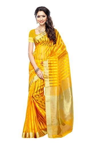Saree Fancy (Mimosa Women's Fancy Tassar silk saree Color: Light Gold(3225-PRS30-LGLD))