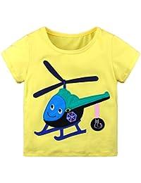 Baby Kids Girl Boy Print Camisas De Manga Corta Summer Tops Childrens Camiseta Edad 18-24M 2-6 Años De Edad
