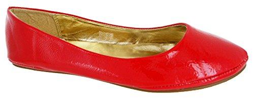 36 Rossa Scarpe Ballerina Di 41 Donne Oro Vernice Nere Per Argento Rosso Piatte Lavoro Bianche zCRAqw