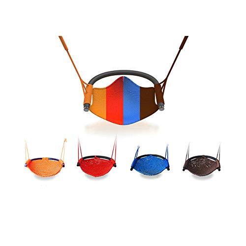 HNAKET Kinderschaukel, Duty Rope Swing Child Hanging Swing Chair für 2-15, Spielplatz, Indoor, Outdoor, Garten, Haushalt,Red - Single Rope Swing