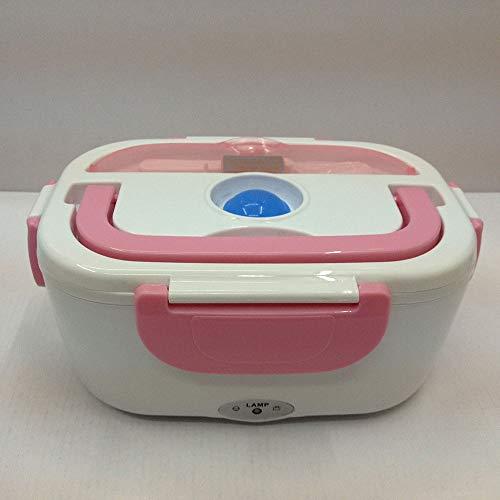 Riscaldamento Elettrico Box Pranzo, Singolo Strato Di Cottura Plug-In Auto Isolamento Pranzo Box Mini Studente Isolato Pranzo Box,Pink