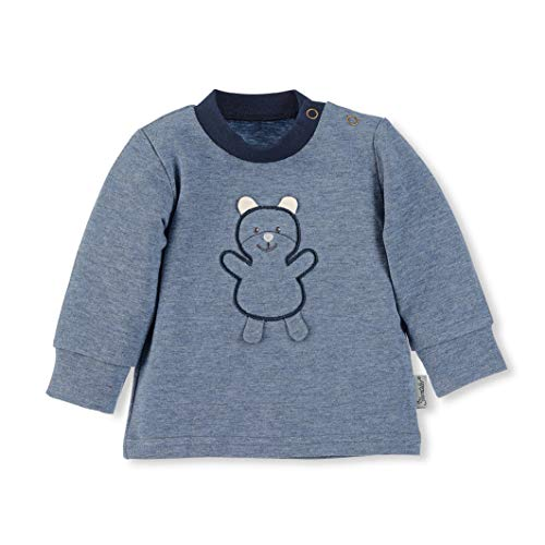 Sterntaler Baby Langarm-Shirt, Alter: 5-6 Monate, Größe: 68, Blau (Jeans Melange)