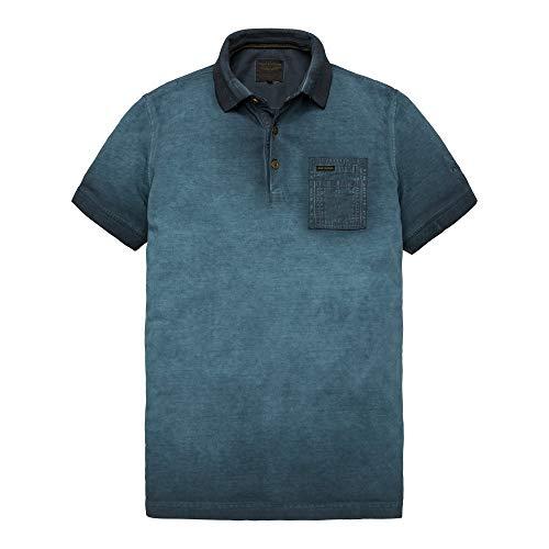 PME Legend Short Sleeve Polo Light Pique Cold Dye, Größe_Bekleidung:XXXL, Farbe:Salute