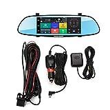 H10 Auto DVR 3G Rückspiegel Videorecorder 7-Zoll-Touchscreen 1080 FHD Dual-Kamera-Bluetooth-Freisprecheinrichtung FM-Übertragung