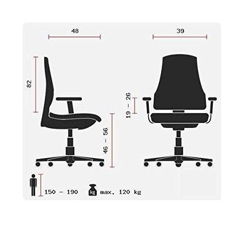 hjh OFFICE 729260 silla gaming LEAGUE PRO I tejido piel sintética negro / rojo silla escritorio