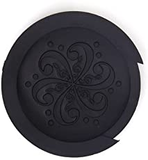 Electomania 1 piece Acoustic Guitar Sound Hole Cover Screeching Halt Rubber (Black)