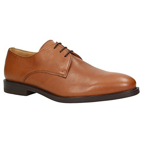Zweigut Hamburg- Smuck #280W Herren Leder Schuh Derby Business Schnürer Breite Passform (Weite H), Schuhgröße:45, Farbe:Cognac