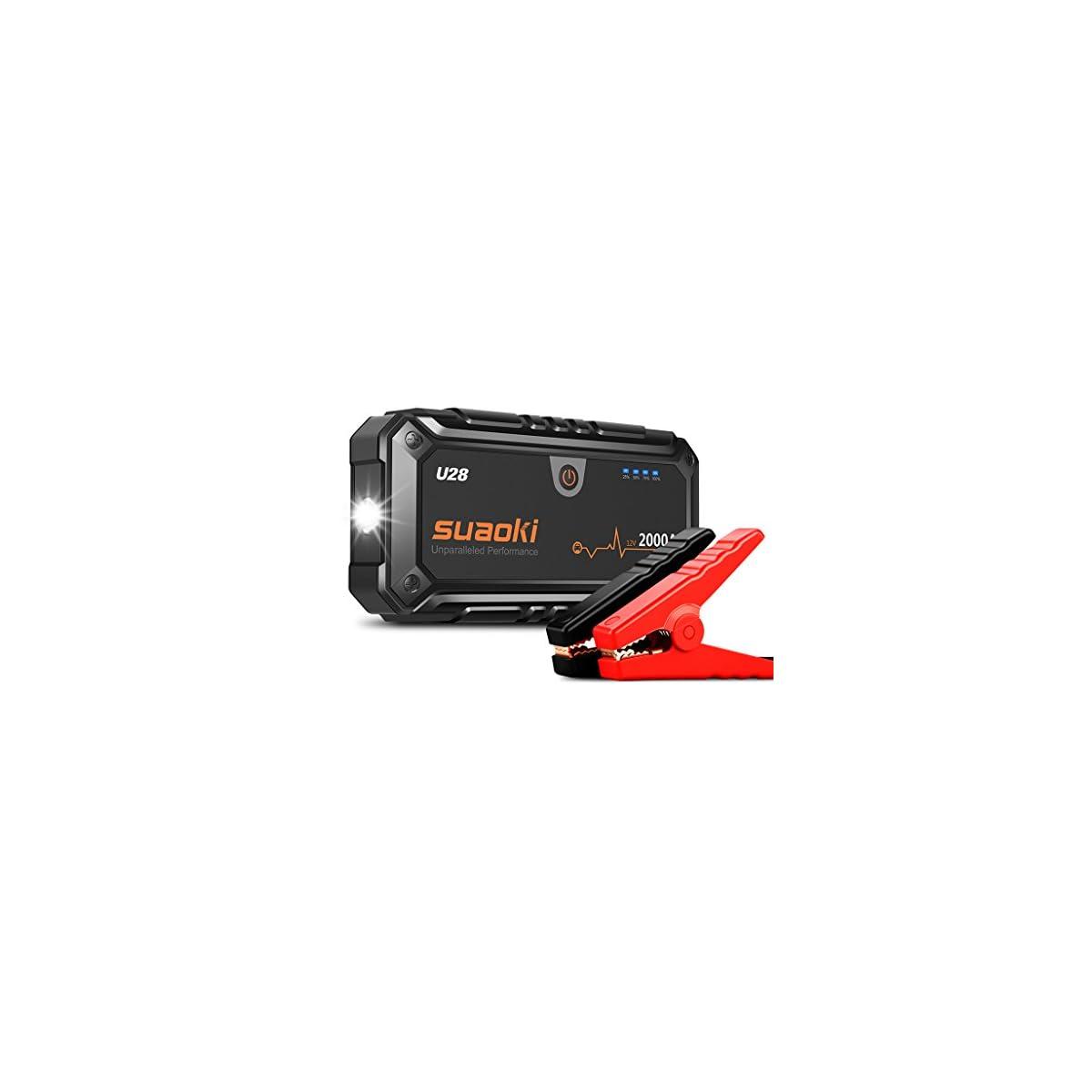 410V07mNweL. SS1200  - SUAOKI U28 2000A Arrancador de coche, con USB Power Bank, LED Flashlight, Multifunción, Con pinzas inteligentes
