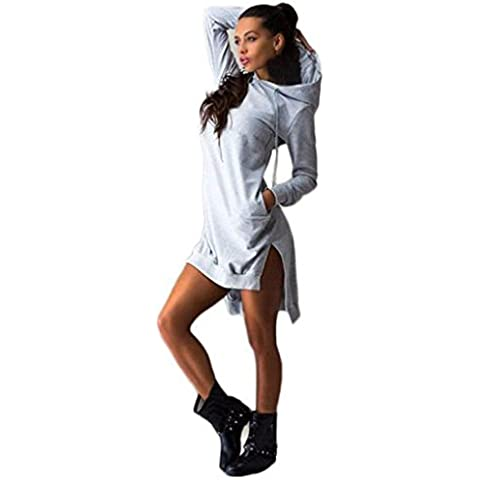 Vovotrade mujer camiseta vestido con capucha Jersey