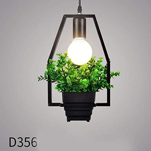 Remaxm Geometrie Kronleuchter, Einfach Pflanze Eisen Kronleuchter Eisen Lampe Geometrie Pflanzen Lichter für Pub Musik Restaurant - D356 Kegel