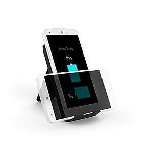 Chargeur Sans Fil Qi 5V 1A RAVPower Support de Chargeur à Induction de trois Bobines intégrés, pour Des Appareils et Smartphones Compatibles avec Charge QI Sans FIl
