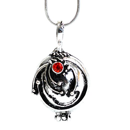 Gilbert, inspiriert von Vampire Diaries Elenas Eisenkraut Kristall Halskette Anhänger Medaillon Silber Antik