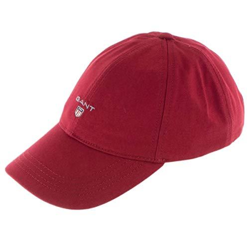 GANT Herren Twill Baseball Cap, Rot (Mahogany Red 617), One Size (Herstellergröße:...