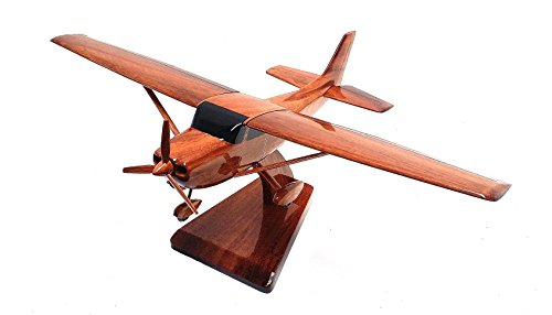 cessna-172-airplane-plane-general-maqueta-madera-de-caoba