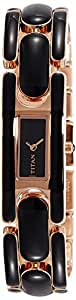 Titan Purple Analog Black Dial Women's Watch -NK9721WM02