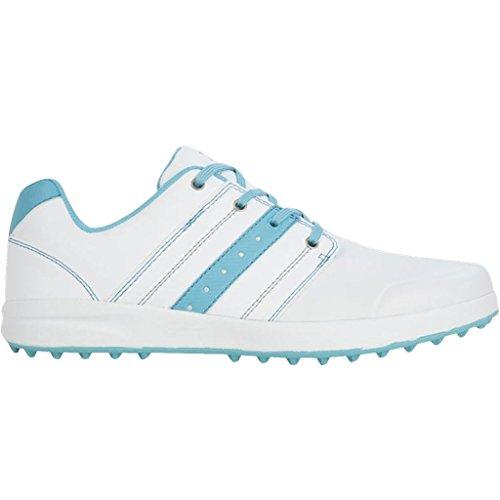 2017 Ladies Stuburt Urban Casual Womens Spikeless Golf Shoes-Leather White/Tiffany 4UK - Tiffany Golf