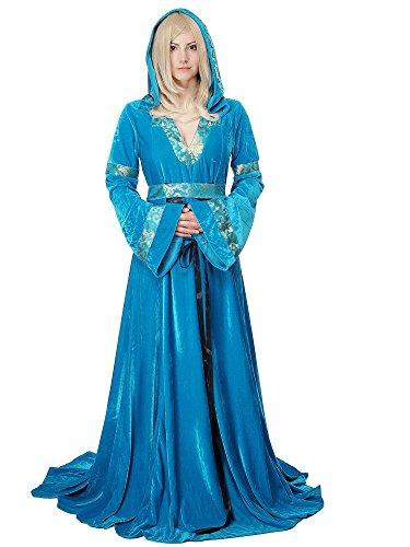 fasching kostueme damen maerchen Kostüm Damen Damenkostüme edles & aufwändiges, langes Kleid Elfe Waldelfe Märchen Mittelalter Cosplay L067 Gr. 38 / S