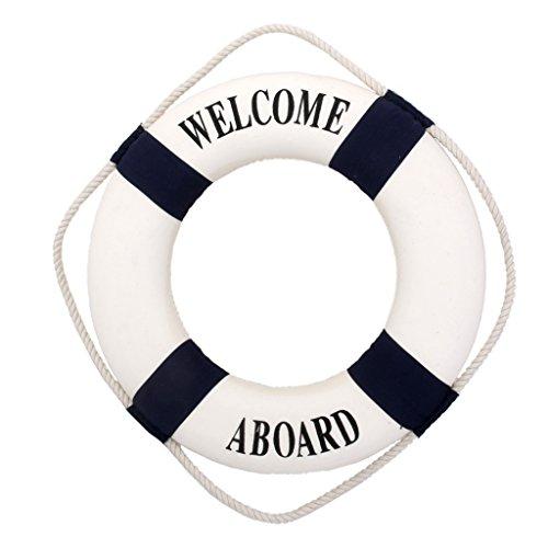conservatore-welcome-nautico-muro-decor-nave-barca-anello-salvagente-parete-appeso-arredamento-35cm-