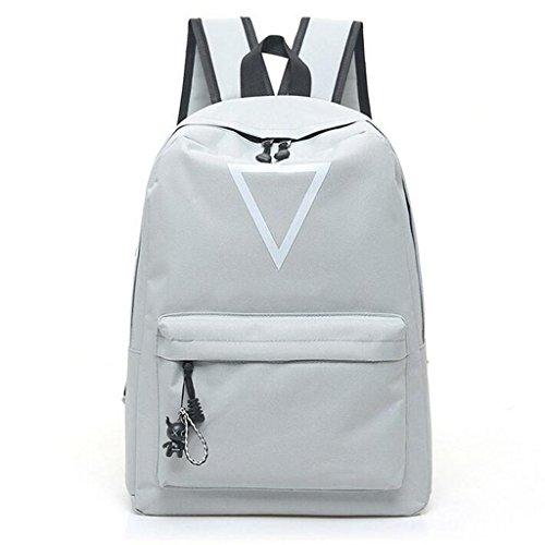 Y&F Frau Schülertasche Rucksack Rucksack Schultertaschen Handtasche 30 * 12 * 42cm gray