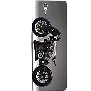 Casotec Bike Design Hard Back Case Cover for Sony Xperia C5 Ultra Dual