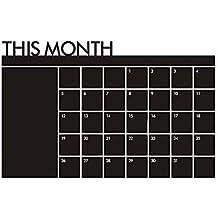 Hrph Pizarra de vinilo calendario mensual mural Decal planificador mural de papel de pared removible pegatinas de pared