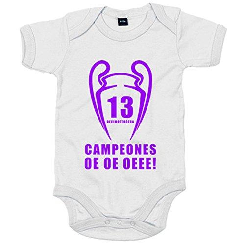 Body bebé Real Madrid Campeones de Europa La Decimotercera - Blanco,