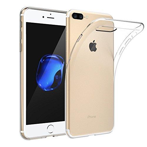 EKINHUI Case Cover Ultradünnes transparentes TPU schützender weicher Fall-Gummi-Silikon-Haut-Abdeckungs-Fall für iPhone 7 Plus ( Color : Clear , Size : IPhone 7 Plus ) Clear