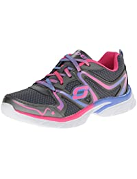 8bf2fb3628b Skechers Girl s Jump Upz Gunmetal and Multicolor Mesh Sports Shoes - 12 UK  (81115L-