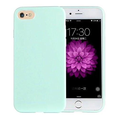 delightable24 Protezione Cover Case in Silicone TPU Jelly per Smartphone APPLE IPHONE 7 - Verde Chiaro