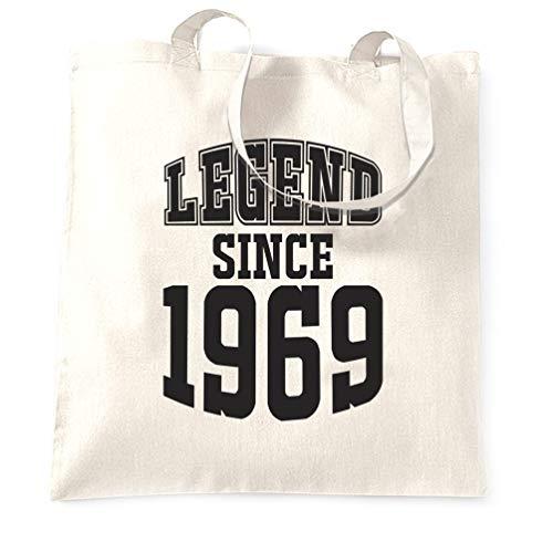 Tim And Ted 50. Geburtstag Tragetasche Legend Seit 1969 Slogan Fünfzig White One Size (In Fünfziger Mädchen Den Jahren)