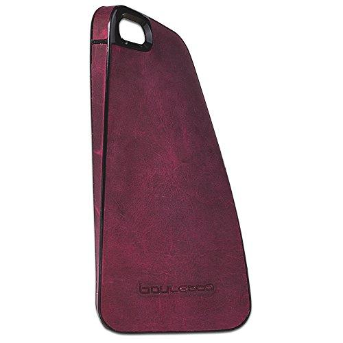 "Bouletta ""Elastic"" Apple iPhone 5S 5 Echt Leder Hülle Cover Case Schale Handytasche Schutzhülle - ELASTISCHES ECHT LEDER COVER - Antic Pink Antic Fuchsia"