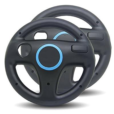 2x Steering Racing Wheel for Nintendo Wii - Black from LS