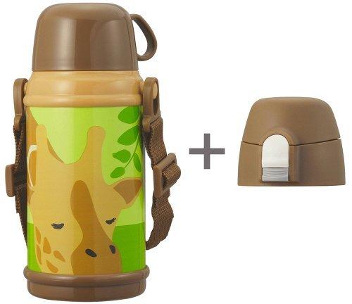 2 WAY Kinder Flasche 600 ml Giraffe