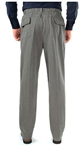 WTUS Grandi dimensioni Pantaloni Sportivi da Di mezza età Uomo, Molto Caldi Grigio