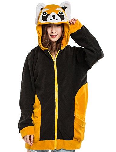 Unisex Tier Kapuzenpullover Erwachsene Cospaly Jacke Rote Panda Geeignet für Hohe 140-187 CM (Sweatshirt Adult Liebhaber)