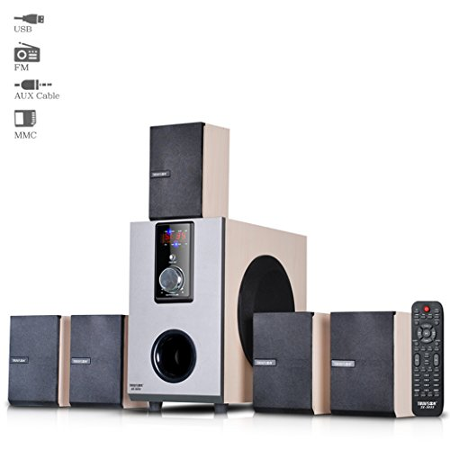 Truvison SE-5055 5.1 Multimedia Speaker System USB FM AUX MMC Playback Support Feature Superior Sound Clarity  available at amazon for Rs.3899