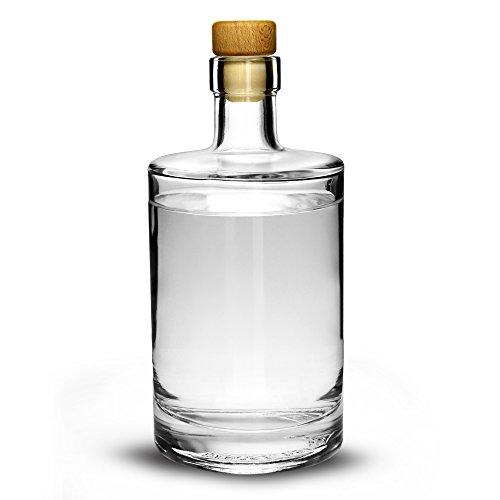 Drinkstuff Glasflasche mit Korken 500ml– Flasche für hausgemachten Gin (Lagerung-flaschen Glas)