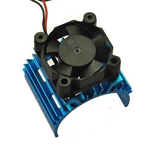 xunji ajie 1 Bleu Aluminum Heat Sink with 5 V Cooling Fan pour 1/10 Car 540 550 Size Moteur Renforcer