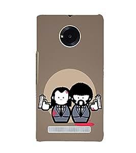 Ebby Printed back cover for Micromax Yuphoria YU5010(Premium Designer case)