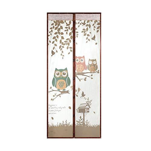 MLIBINA Magnetische Sommer Anti Moskito Vorhänge Tür Vorhänge verhindern Magnet Moskitonetz Küche Zimmer Portiere Screen Vorhang für Terrasse Außentüren, Coffee, 100 * 220 - Vorhänge Küche Terrasse