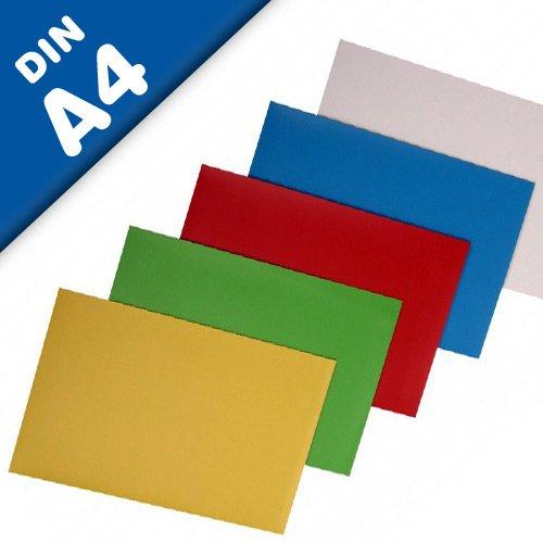 Magnetfolie DIN A4 Format, farbig sortiert - 297mm x 210mm x 0,8mm - einfach zuschneiden, beschriften oder flexibel einsetzen, Farbe:rot