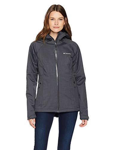 Columbia Women's Top Pine Insulated Rain Jacket, Shark Melange, Small (Womens Insulated Rain)