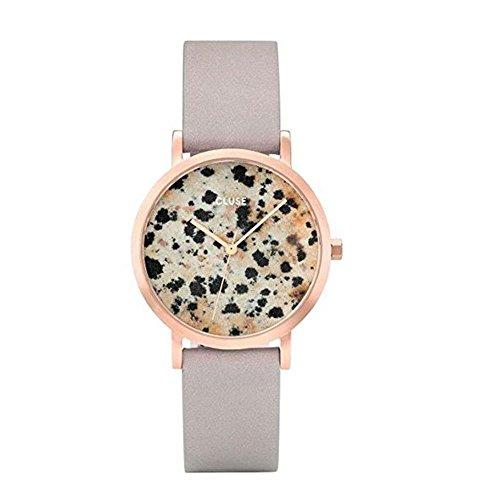 Cluse Unisex Erwachsene Digital Quarz Uhr mit Leder Armband CL40106