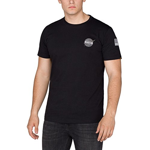 Alpha Industries Herren Oberteile/T-Shirt Space Shuttle T Schwarz 3XL