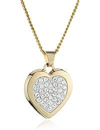 Crystelle - Anhnger/Kette 42-45cmcm Herz mit weissen Swarovski Kristallen 500341014