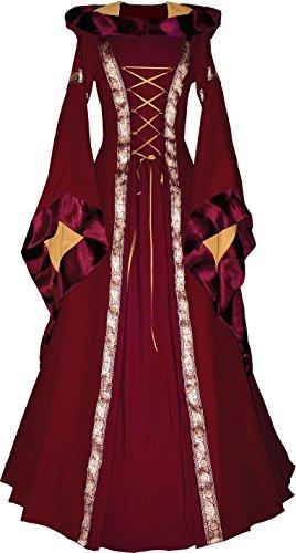 Dornbluth Damen Mittelalter Kleid Sarah Bordeaux-Safran