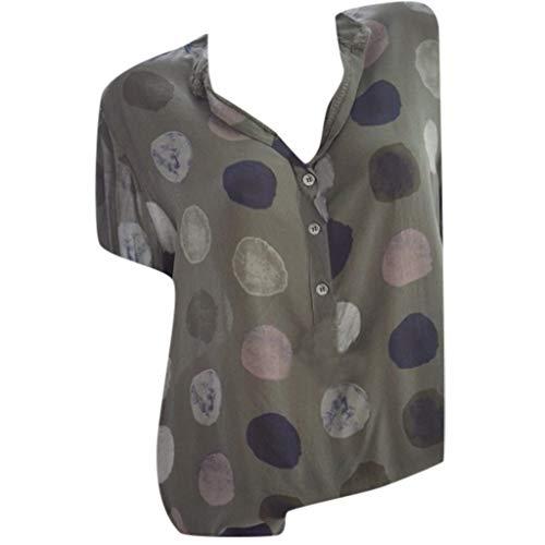 COZOCO 2019 Heiße verkaufende Frauen-Blusen-beiläufige Oberseiten-Druck-V-Ansatz T-Shirt Kurzschluss-Hülsen-Hemden Plus Größen-T-Stücke